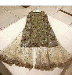 Liking the lace sharara Pakistani Wedding Outfits, Pakistani Wedding Dresses, Indian Dresses, Indian Outfits, Indian Designer Outfits, Designer Dresses, Sharara Designs, Pakistan Fashion, Couture