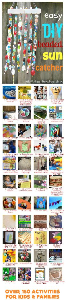 {Weekend Family Fun} Awesome collection of family friendly kid's activities.