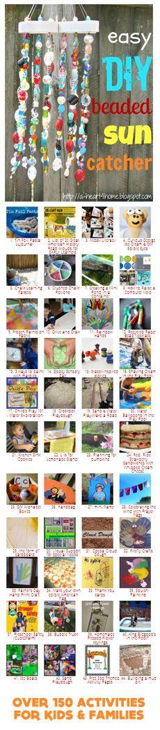 summer crafts, kid activities, famili friend, friend kid, diy summer activities for kids, bead activities for kids, craft ideas, weekend famili