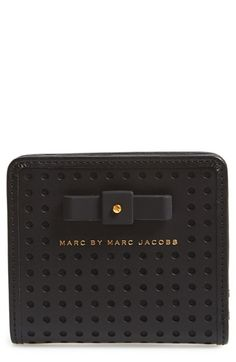 MARC BY MARC JACOBS 'Sophisticato - Bow Emi' Leather Wallet available at #Nordstrom