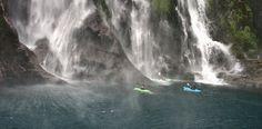 Kayaking in Milford Sound. #NewZealand