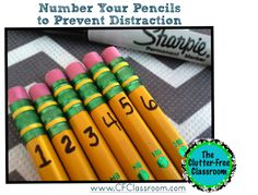 Clutter-Free Classroom: Pencils: Tips for Organizing and Managing Pencils in the Classroom