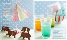 cotton candy lemonade and chocolate elephants