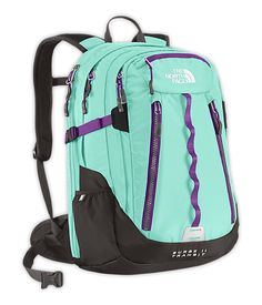The women's Surge II daypack from The North Face features a suspension designed to fit women, letting them carry their daily work or school essentials, including a laptop and a tablet, in comfort. Cute Backpacks, School Backpacks, Chevron Backpacks, Girl Backpacks, North Face Women, The North Face, North Faces, Beauty And Fashion, Women Camping