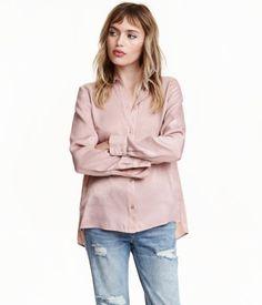 Blusa de manga larga | Rosa de antaño | Mujer | H&M MX