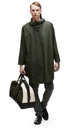 Poncho - Green - RAINS | Rainwear | Modern Danish Design - 1