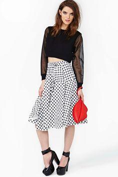 In Check Skirt
