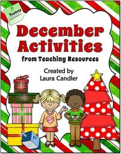 December Activities from Laura Candler's Teaching Resources - Ready-to-use engaging lessons for Christmas and Hanukkah! Includes more than 25 pages of directions, printables, and answer keys. Perfect for 3rd grade, 4th, grade, and 5th grade $ #LauraCandler