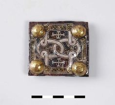 """""""Belt parts of a 7th century Frankish warrior. Found in Lent, the Netherlands. Silver, iron, and brass."""""""