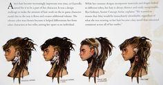 The Art of Horizon Zero Dawn - Aloy's hair