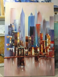 Abstract City, Cityscape Art, Watercolor Artists, Painting Videos, City Art, Painting Frames, Landscape, Etsy Store, Photos