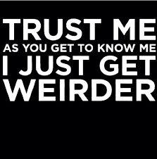 Lol so true! - Weird Shirts - Ideas of Weird Shirts - Lol so true! The Words, Infj, Dont Be Normal, Quotes To Live By, Me Quotes, Weird Friends Quotes, Being Weird Quotes, Crazy Quotes, Truth Quotes