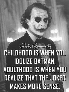 Most memorable quotes from Joker, a movie based on film. Find important Joker Quotes from film. Joker Quotes about who is the joker and why batman kill joker. Check InboundQuotes for Dark Quotes, Wisdom Quotes, True Quotes, Great Quotes, Quotes To Live By, Motivational Quotes, Funny Quotes, Inspirational Quotes, Perfect Man Quotes