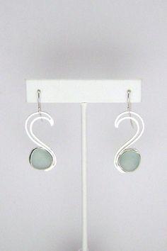 Sea Glass Jewelry  Sterling Aqua Sea Glass by SignetureLine, $75.00