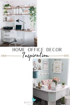 Every girl boss knows that your work space is almost as important as the actual work you're doing. We have the home office decor and design inspiration that you've been dreaming of. Whether you're into modern, rustic, or boho interior we have the home decor tips for you! Home Office Decor, Home Decor Bedroom, Living Room Decor, Dining Room Inspiration, Home Decor Inspiration, Interior Decorating, Decorating Ideas, Decor Ideas, Open Floor House Plans