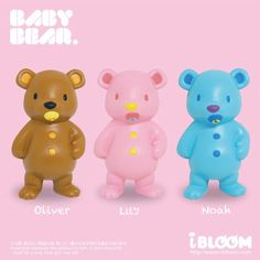 Baby Bear Squishy: Lily, Oliver and Noah http://squishy-japan.com/shop/maker-bloom/baby-bear/ #squishy #ibloomsquishy #babybear #squishyjapan