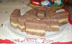 Pilóta szelet Winter Food, Nutella, Tiramisu, Dessert Recipes, Baking, Cake, Sweet, Ethnic Recipes, Candy