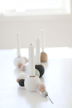 wooden ball candle holder bead this pinterest. Black Bedroom Furniture Sets. Home Design Ideas