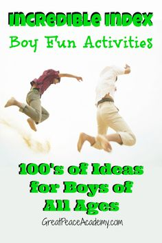 Incredible Index Boy Fun Activities | Great Peace Academy