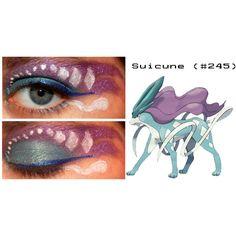 Pokemon Inspired Eye Make-Up ❤ liked on Polyvore