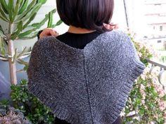 Scialle semplicissimo a maglia, per Donegal o Camel