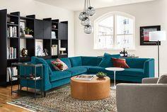 Addison Custom Bookcases - Modern Custom Bookcases - Modern Living Room Furniture - Room & Board