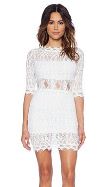 Nightcap florence lace dress ivory in stock