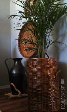 FOCAL POINT STYLING: HOW TO STAIN A WICKER BASKET