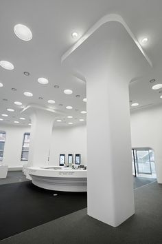 [ staron solid surface : SP016 - Pure White ] Office & Workspace - Dongdaemun Design Plaza & Park, Seoul, Designed by Zaha Hadid