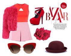"""(7) Red fashion #fashion #red #likeforlike #followforfollow #likeforlike"" by savirafianiesa on Polyvore featuring Karen Millen, Love Moschino, Alexander McQueen, Avon and Dolce&Gabbana"