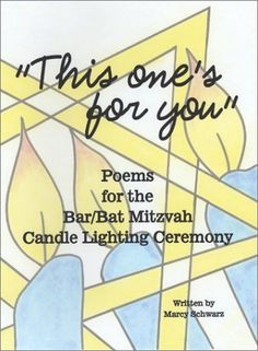 This book of poems will help you write the quatrains for the Bar/Bat Mitzvah candle lighting ceremony.