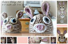 Darla's Bunny Hat - Multiple Sizes - Free Crochet Pattern, ©Oombawka Design, 2013 • Oombawka Design Crochet