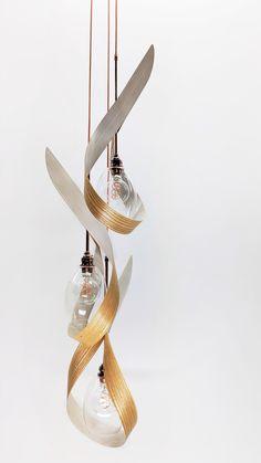 SwoonTre White Modern or Contemporary Pendant Light by Ericksen Design