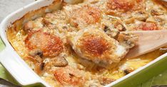 Easy Oven Baked Chicken Supreme - Supreme in more ways than one. The creamy, mushroom-topped chicken bake is supremely delicious, but also supremely easy thanks to the simple addition of onion soup mix to cut down on ingredients. Easy Oven Baked Chicken, Oven Chicken Recipes, Baked Chicken Breast, Cooking Recipes, Chicken And Leek Casserole, Cream Of Chicken Soup, Creamy Chicken, Chicken And Onion Soup Mix Recipe, Chicken Supreme Recipe