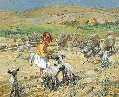 "Dorothea Sharp, ""Spring Morning, Sussex Downs"""