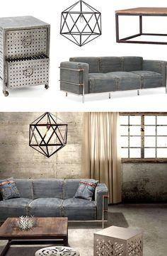 Industrial Chic Furniture & Decor   dotandbo.com
