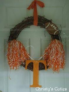 Cute football wreath