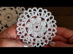 Crochet motif#6 Flower Tutorial - YouTube