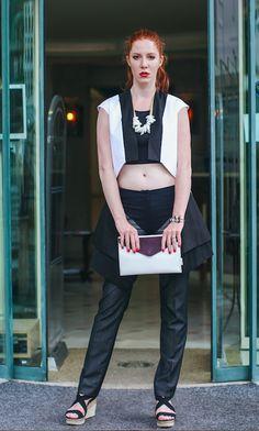 Trouses, vest, necklace, purse/ Parasite fashion shop, bracelet/Trollbeads, shoes/F&F