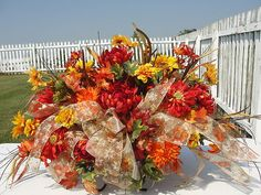 Harvest Spray Headstone Tombstone Saddle Top of Stone Cemetery Autumn Sunflowers   eBay