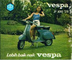 Old school Vespa flyer in Indonesia (via areyoureddy)