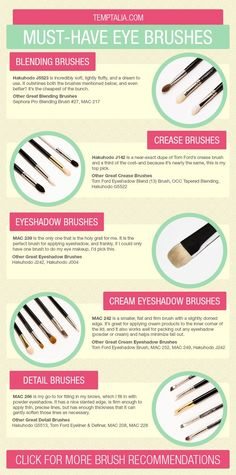 Must-Have Eye Makeup Brushes