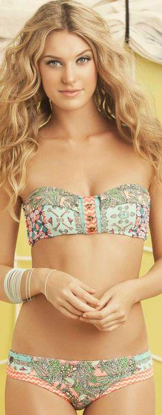 Maaji // Milkshake Key Bandeau Bikini Top