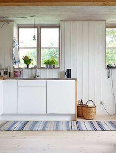 A basic kitchen on Sweden's West Coast.