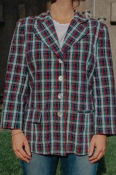 Parampara is a global collective of vintage & secondhand stores - shoppable in one place. Tartan Shirt, Plaid, Red Green, Yellow, Tartan Pattern, White Brand, Stripes, Buttons, France
