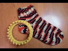 ROUND LOOM KNIT SOCKS TUTORIAL, My Crafts and DIY Projects