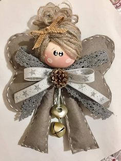 Best 12 Hand made Personalized Gifts – Puppet – Wedding Favors, Baby Favors, Dolls … Felt Christmas, Christmas Angels, Christmas Crafts, Christmas Ornaments, Angel Ornaments, Felt Ornaments, Tree Decorations, Christmas Decorations, Angel Crafts