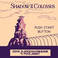 Shadow of the colossus title screen (purple day)
