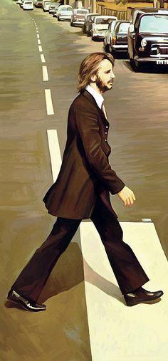 The Beatles Abbey Road - Ringo Starr - Artwork Part 3 Of 4 Painting Abbey Road, Ringo Starr, Beatles Art, The Beatles, George Harrison, John Lennon, Heavy Metal, Billy Preston, The Fab Four