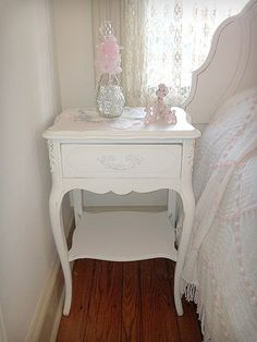 Shabby Chic Night Stands - Forever Pink
